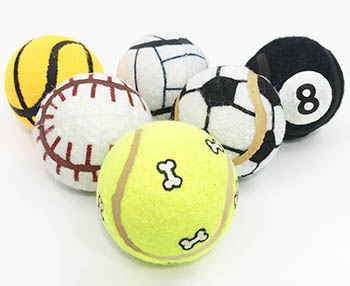 Set of six balls