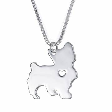 Yorkie Heart Necklace